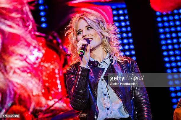 Ilse DeLange of The Common Linnets performs live on stage as guest of Peter Maffay during a concert at Kindl Buehne Wuhlheide on June 9, 2015 in...