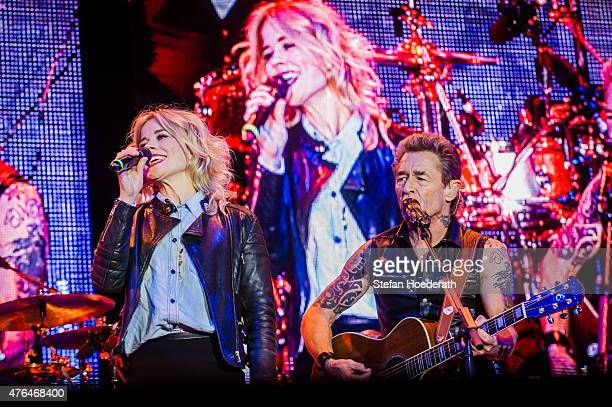 Ilse DeLange of The Common Linnets performs live on stage as guest of Peter Maffay during a concert at Kindl Buehne Wuhlheide on June 9 2015 in...
