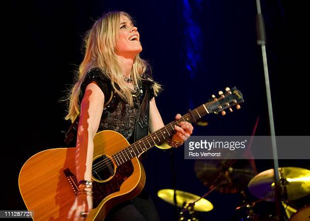 Ilse DeLange performs on stage at Gelredome on March 26, 2011 in Arnhem, Netherlands.