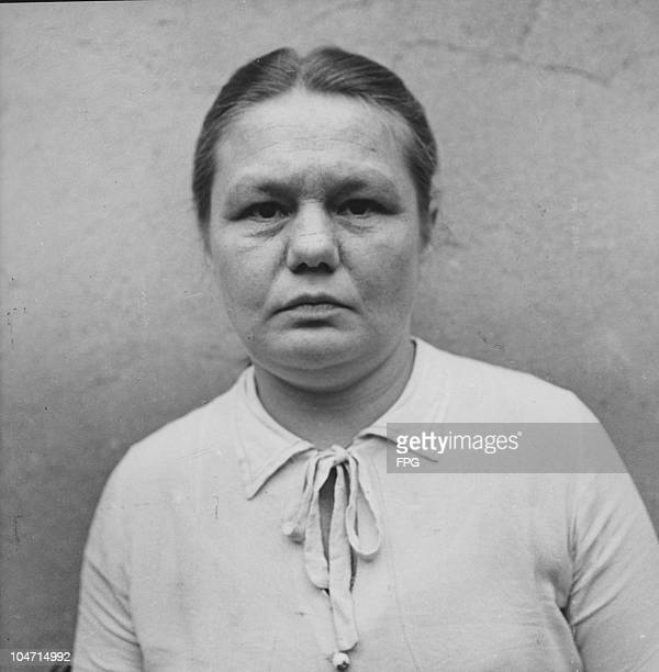 Ilse Lothe, a guard at the Bergen-Belsen concentration camp, Germany, circa 1945. Charged with war crimes and crimes against humanity, Lothe is...