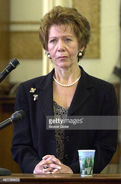 Ilse Stark sisterinlaw of Dr Dirk Greineder testifies during his trial in the murder of her sister Mabel Greineder at Norfolk Superior Court in...