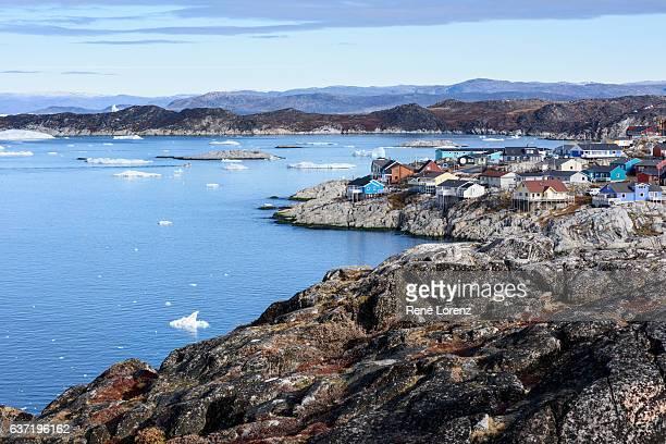 ilulissat, greenland - ilulissat stock-fotos und bilder