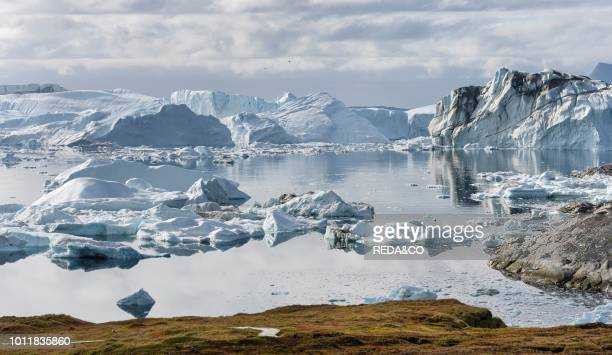 Ilulissat Icefjord also called kangia or Ilulissat Kangerlua The icefjord is listed as UNESCO world heritage America North America Greenland Denmark
