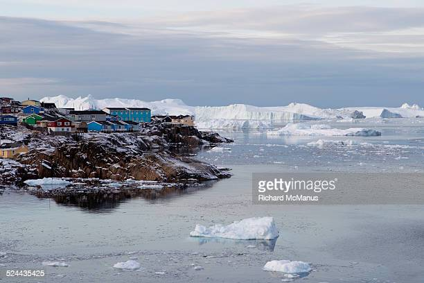 Ilulissat in front of the icefjord