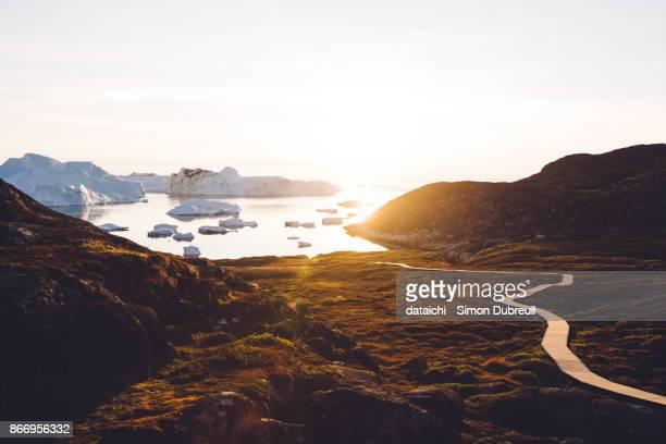 Ilulissat Kangia Icefjord sunset