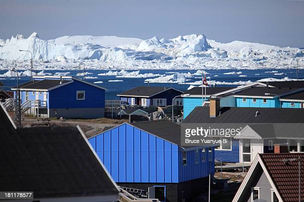 Ilulissat with Ilulissat Icefjord in background