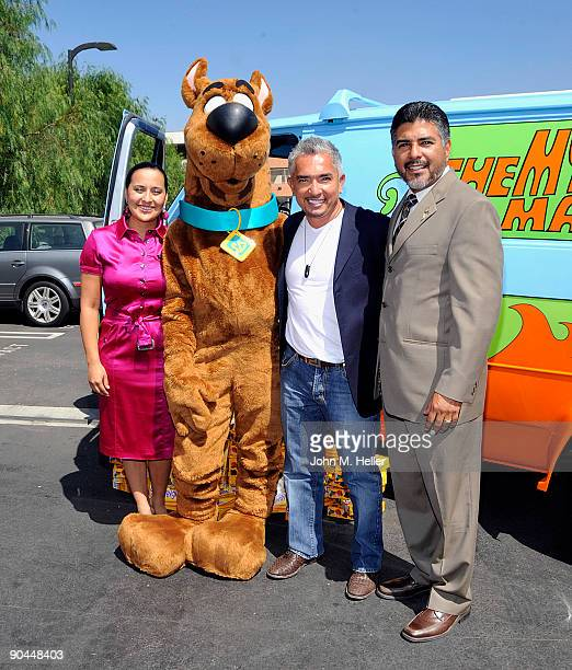 Ilusion Millan cartoon character ScoobyDoo host of the 'Dog Whisperer' Cesar Millan and Los Angeles City Councilman 6th District Tony Cardenas attend...