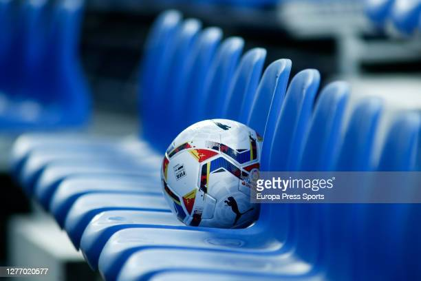 Ilustration, ball of the match on the empty stands during the Spanish second league, La Liga SmartBank, football match played between CD Leganes and...