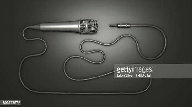 Ilustration of a microphone with a long cable