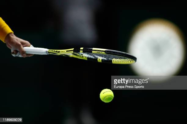 Ilustration, Rafael Nadal of Spain racket during his third round doubles match Semi-Finals played with Feliciano Lopez of Spain against Jamie Murray...