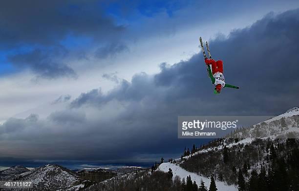 Ilya Burov of Russia competes during qualifying for the Mens Aerials at the FIS Freestyle Ski World Cup Aerial Competition at Deer Valley on January...