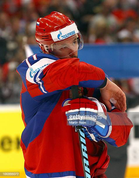 Ilya Kovalchuk of Russia looks dejected after losing the IIHF World Championship gold medal match between Russia and Czech Republic at Lanxess Arena...