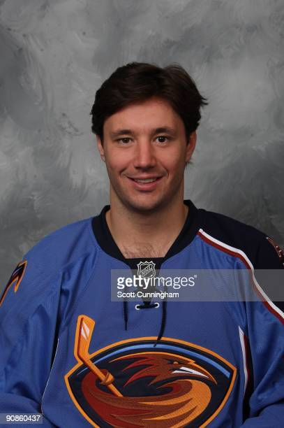 Ilya Kovalchuk of the Atlanta Thrashers poses for his official headshot for the 20092010 NHL season
