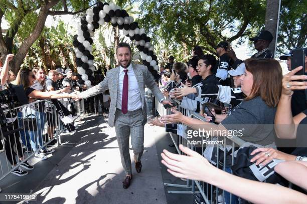 Ilya Kovalchuk of the Los Angeles Kings arrives before the Los Angeles Kings game against the Nashville Predators at STAPLES Center on October 12...