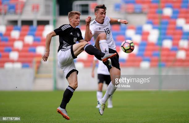 Ilya Vasilevich Adrian Fein during the Football European Under19 Championship 2018 Qualifying Round match between Germany and Belarus on October 4...