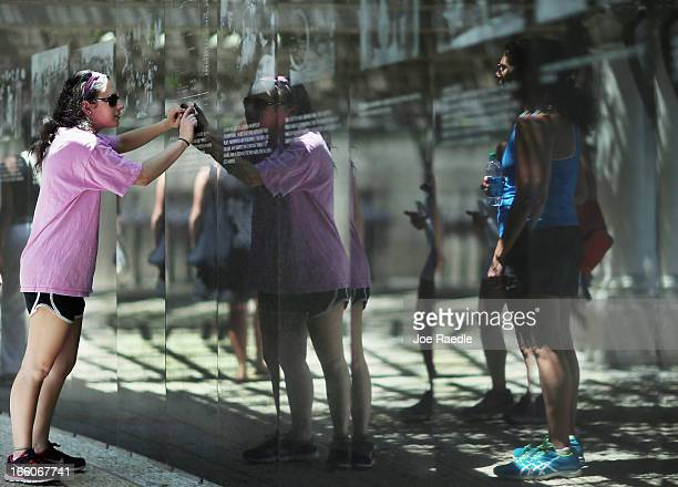 Ilyse Greenberg visits the Holocaust Memorial during Yom HaShoahHolocaust Remembrance Day on April 8 2013 in Miami Beach Florida Holocaust...