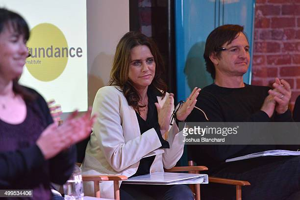 Ilyse McKimmie Amy Landecker and William Mapother attend the Sundance Institute Black Bats screenplay reading at The Microsoft Lounge on December 1...