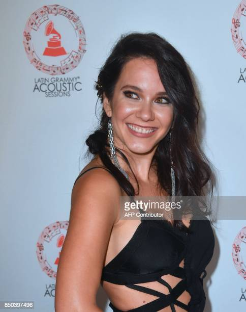 Ilza Rosario arrives for the Latin Grammy Acoustic Sessions in Los Angeles California on September 20 2017 / AFP PHOTO / FREDERIC J BROWN