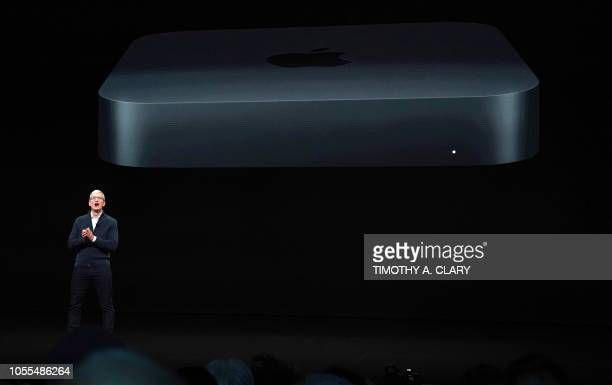 im Cook CEO of Apple unveils a new Mac Mini during a special event at the Brooklyn Academy of Music Howard Gilman Opera House October 30 in New York