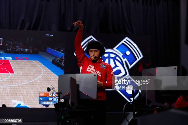 Im So Far Ahead of Pistons Gaming Team reacts during game against Jazz Gaming on July 28 2018 at the NBA 2K Studio in Long Island City New York NOTE...