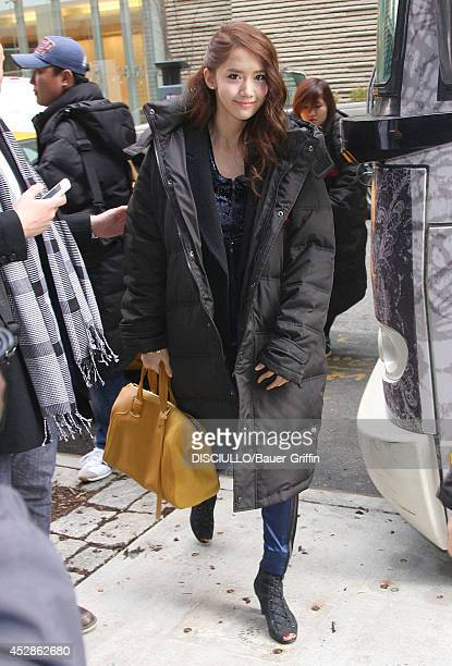 Im Yoona of South Korean girl group Girls' Generation is seen on February 01 2012 in New York City