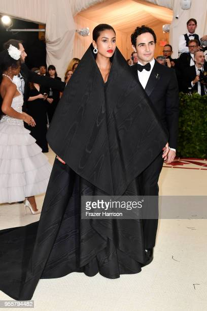 Imaan Hammam and Zac Posen attend the Heavenly Bodies Fashion The Catholic Imagination Costume Institute Gala at The Metropolitan Museum of Art on...