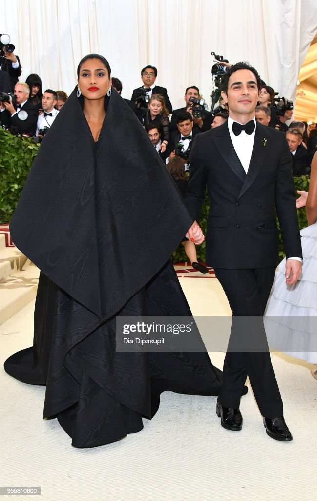 Imaan Hammam and Zac Posen attend the Heavenly Bodies: Fashion & The Catholic Imagination Costume Institute Gala at The Metropolitan Museum of Art on May 7, 2018 in New York City.