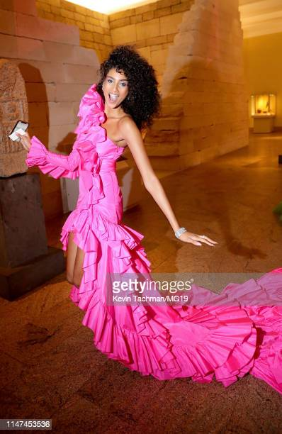 Imaan Hammam attend The 2019 Met Gala Celebrating Camp Notes on Fashion at Metropolitan Museum of Art on May 06 2019 in New York City