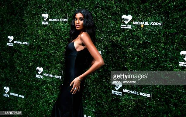 Imaan Hammam attends God's Love We Deliver 13th Annual Golden Heart Awards celebration at Cipriani South Street on October 21 2019 in New York City