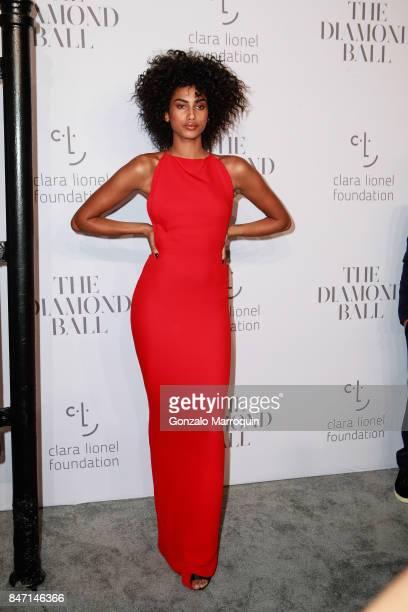 Imaan Hammam attends Rihanna's 3rd Annual Diamond Ball at Cipriani Wall Street on September 14 2017 in New York City