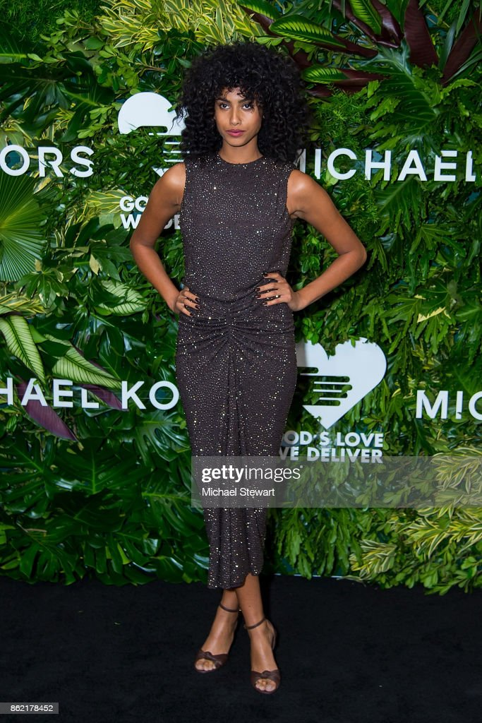 Imaan Hammam attends the 11th Annual God's Love We Deliver Golden Heart Awards at Spring Studios on October 16, 2017 in New York City.
