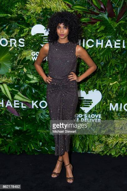 Imaan Hammam attends the 11th Annual God's Love We Deliver Golden Heart Awards at Spring Studios on October 16 2017 in New York City