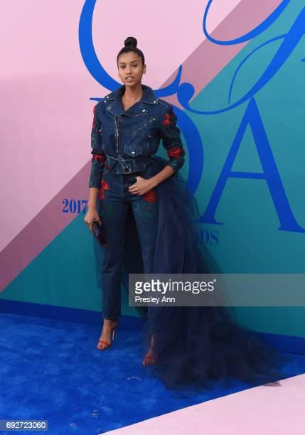 Imaan Hammam attends the 2017 CFDA Fashion Awards at Hammerstein Ballroom on June 5 2017 in New York City