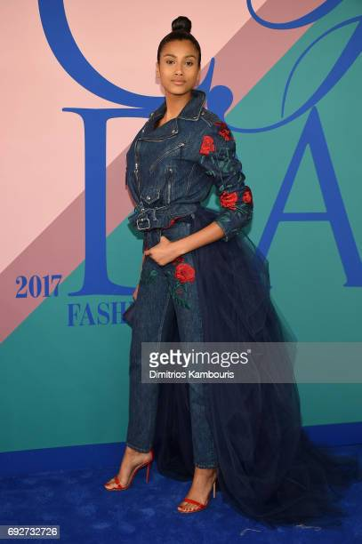 Imaan Hammam attends the 2017 CFDA Fashion Awards at Hammerstein Ballroom on June 5 2017 in New York City