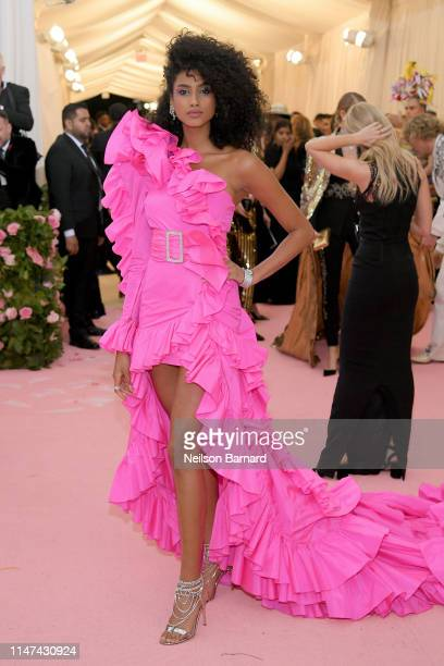 Imaan Hammam attends The 2019 Met Gala Celebrating Camp Notes on Fashion at Metropolitan Museum of Art on May 06 2019 in New York City