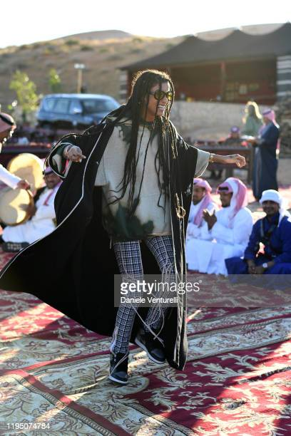 Imaan Hammam attends the Sounds Of The Sands Desert Trip during the MDL Beast Festival on December 20 2019 in Riyadh Saudi Arabia