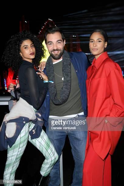Imaan Hammam Bassel Alzaro and Cindy Bruna attend the MDL Beast Festival on December 20 2019 in Riyadh Saudi Arabia
