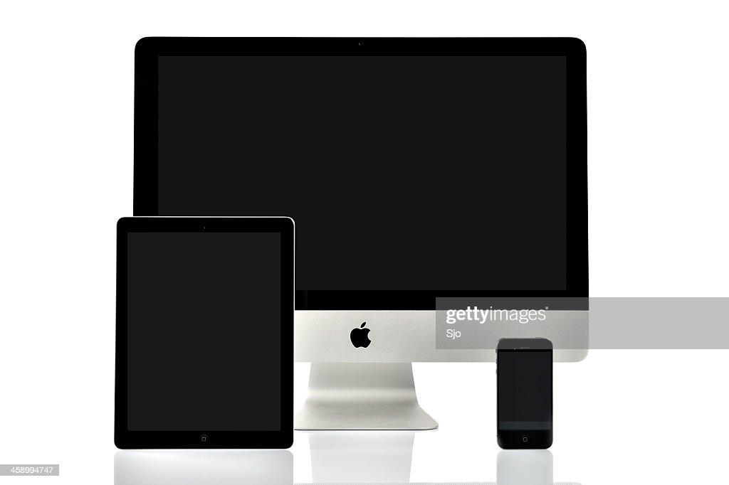 iMac, iPad e iPhone : Foto de stock