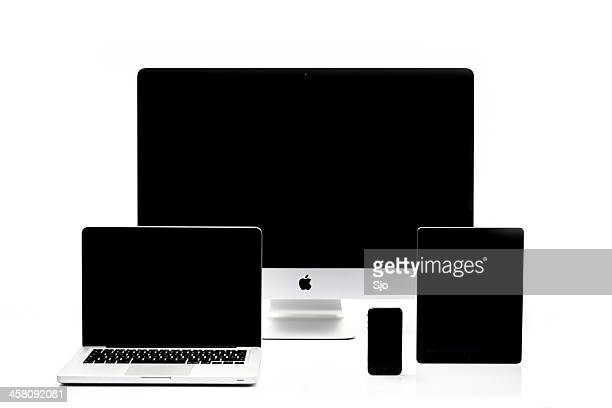 iMac, Macbook Pro, iPad and iPhone