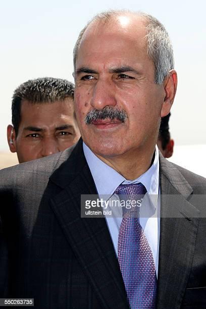 Imad Ahmad Sayfour bei seinem Besuch eines Flüchtlingslagers für syrische Bürgerkriegsflüchtlinge in Arbat - Irak