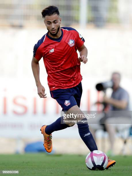 Imad Faraj of Lille during the Club Friendly match between Lille v Reims at the Stade Paul Debresie on July 14 2018 in Saint Quentin France