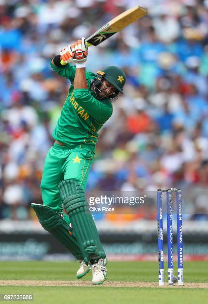 Imad Wasim of Pakistan in action during the ICC Champions trophy cricket match between India and Pakistan at The Oval in London on June 18 2017