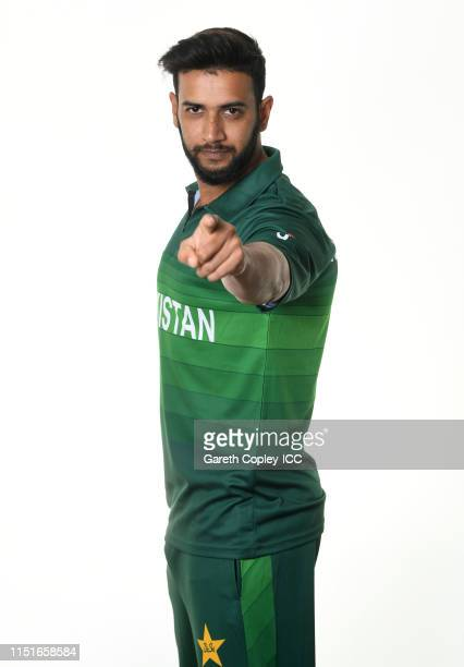 Imad Wasim of Pakistan poses for a portrait prior to the ICC Cricket World Cup 2019 at on May 25 2019 in Cardiff Wales