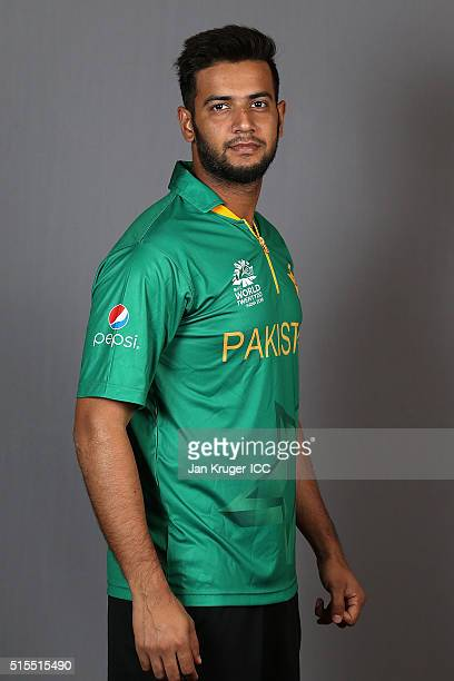 Imad Wasim poses during a Pakistan headshots session on March 14 2016 in Kolkata India