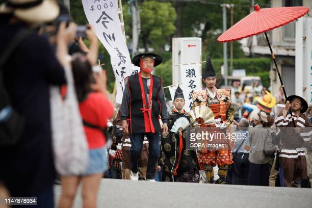 Imagawa Yoshimoto attends a Okehazama Historical Battlefield Festival in Aichi Toyoake In 1560 Oda Nobunaga and Imagawa Yoshimoto fought the...