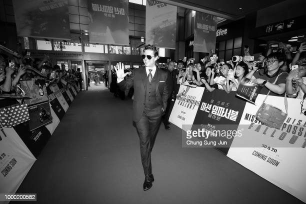 Image converted to black and white Color version not available Tom Cruise attends the 'Mission Impossible Fallout' Seoul Premiere at Lotte World Mall...