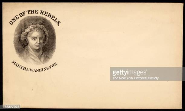 Image depicts a portrait of Martha Washington Text reads 'One of the Rebels Martha Washington'