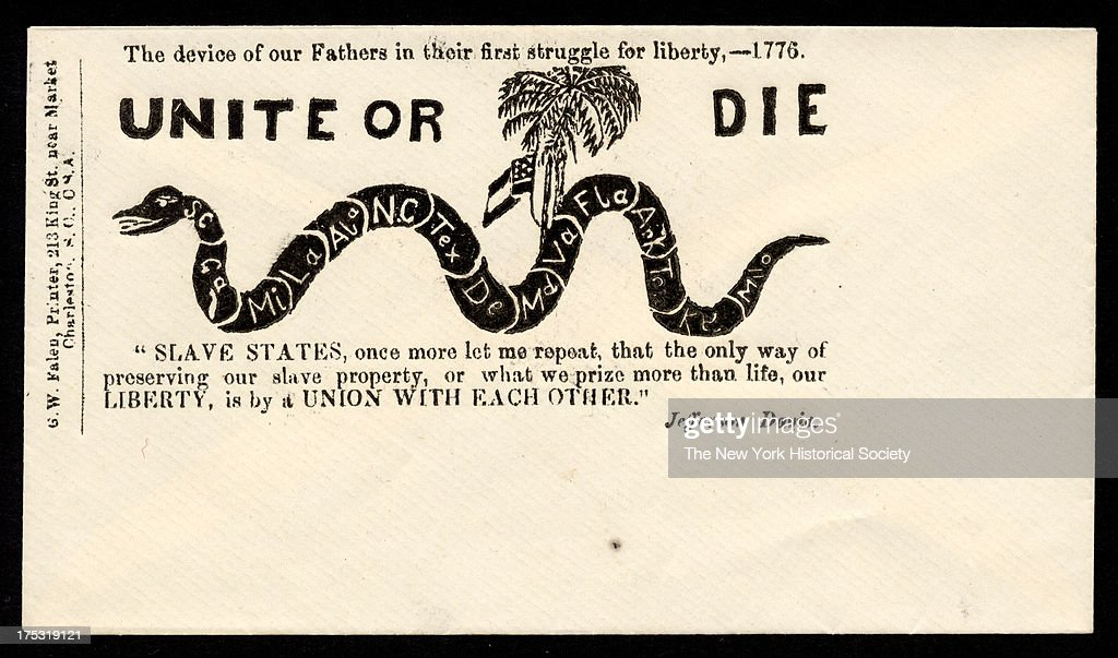 Civil War Envelope: 'Unite Or Die' : News Photo