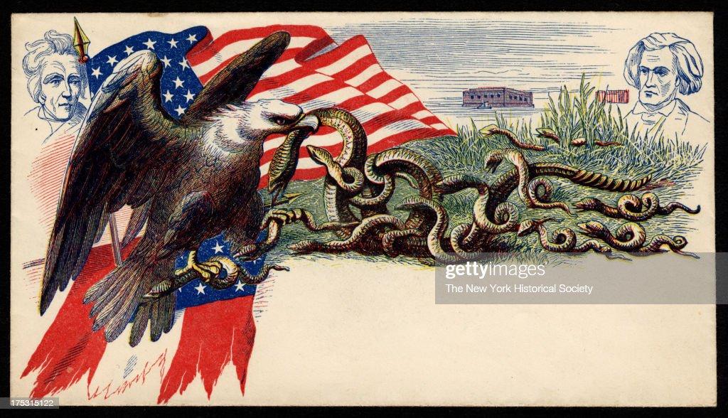 Civil War Envelope: Eagle Versus Snakes : News Photo