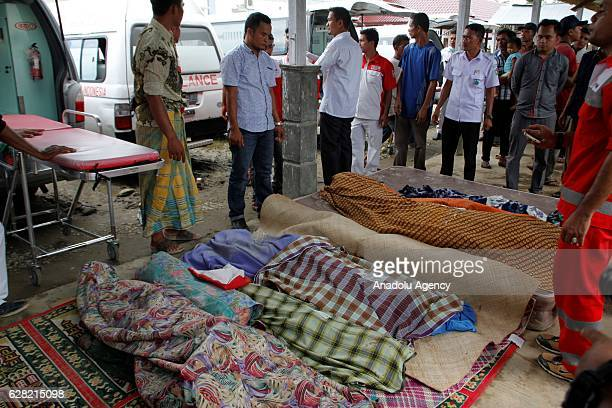 Image depicts death] Dead bodies lay outside a hospital in the quakedevastated area after an earthquake measuring 64 on the Richter Scale rocked...